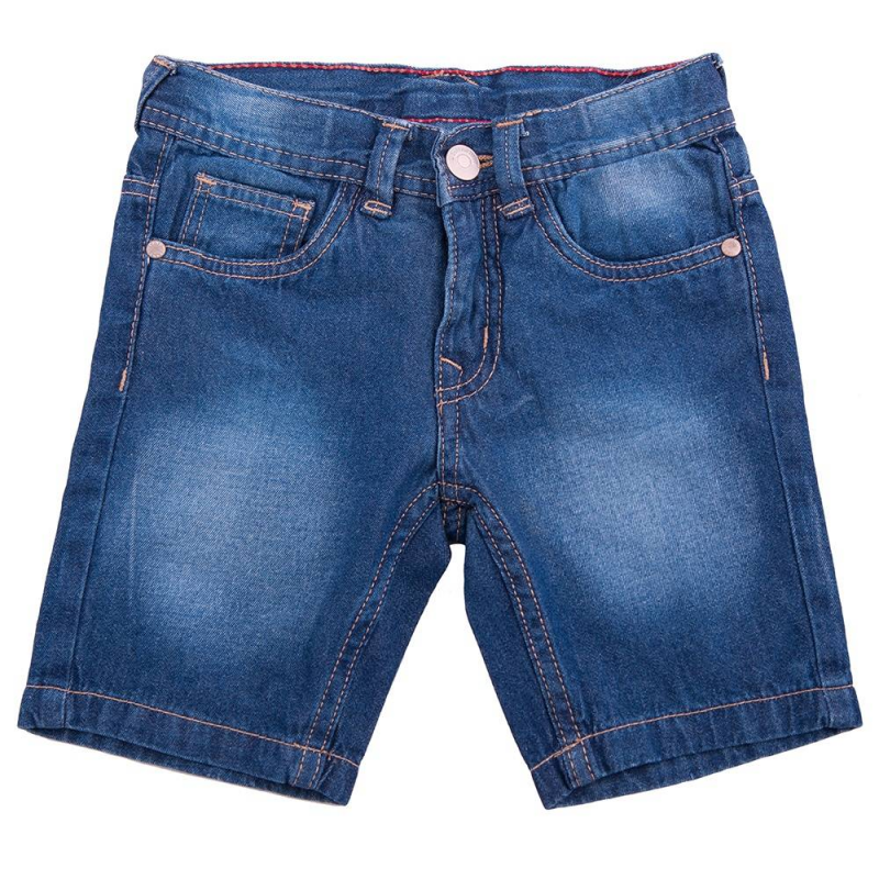ШортыДжинсовые шорты маркиButton Blue для мальчиков. Шорты синего цвета с пятью карманами, имеютэффект потертости. Застегиваются на молнию и пуговицу.Имеют шлейки для пояса.<br><br>Размер: 5 лет<br>Цвет: Синий<br>Рост: 110<br>Пол: Для мальчика<br>Артикул: 636024<br>Страна производитель: Китай<br>Сезон: Весна/Лето<br>Состав: 100% Хлопок<br>Бренд: Россия