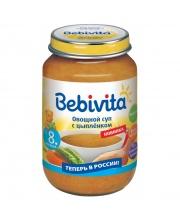 Овощной суп с цыпленком 190гр Bebivita