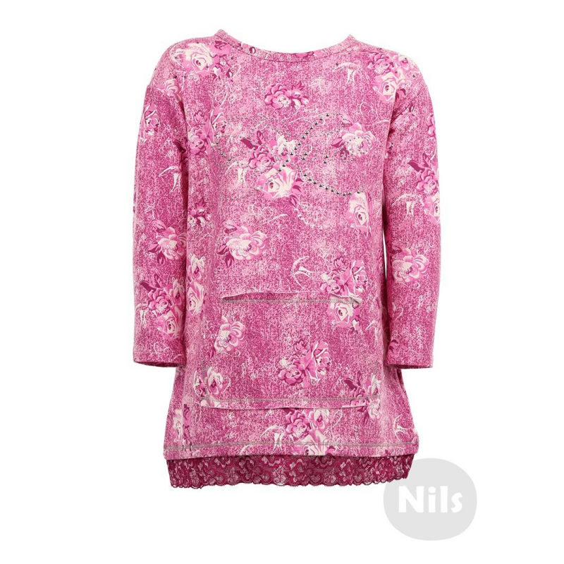SARABANDA Платье жилет утепленный с цветочным принтом sarabanda ут 00004779