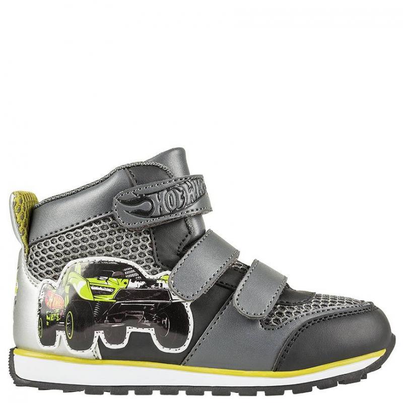 КроссовкиКроссовкитемно-серогоцвета с рисункомHot Wheelsмарки Kakаdu для мальчиков.<br>Модель украшена изображением в стиле Hot Wheels -декорирована изображениями спортивных машин, которые так нравятся мальчикам. Сделана обувь из качественной искусственнойкожи, с включениями текстиля, которые позволяют ноге дышать.Подошва - из очень легкого и прочного материала, который позволяет ребенку чувствовать себя комфортно при ходьбе.Основной цвет кед - серый, есть яркие элементы.<br><br>Размер: 28<br>Цвет: Темносерый<br>Пол: Для мальчика<br>Артикул: 638972<br>Страна производитель: Китай<br>Сезон: Весна/Лето<br>Материал верха: Текстиль / Иск. кожа<br>Материал подкладки: Хлопчатобумажная<br>Материал подошвы: ЭВА (каучук) / ТПР (термопластичная резина)<br>Лицензия: Hot Wheels