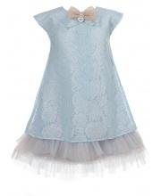 Платье голубого кружева с декором Choupette