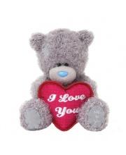 Мишка Тедди 13 см с сердцем Я тебя люблю