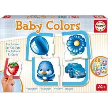 Игрушки, Игра-пазл Цвета 24 детали Educa 639574, фото