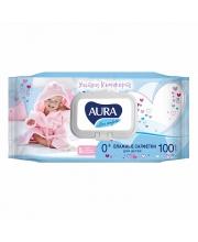 Влажные салфетки для детей Ultra Comfort с алоэ и витамином Е 100 шт с крышкой