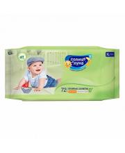 Влажные салфетки для детей с отваром ромашки 72 шт