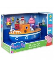 Игровой набор Свинка Пеппа для ванны Корабль дедушки Пеппы РОСМЭН