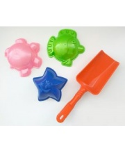 Набор песочный 3 формочки и лопатка в ассортименте KID-HOP
