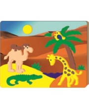 Мозаика-аппликация объемная Африка Флексика