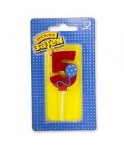Свеча цифра 5 Шарик S+S Toys