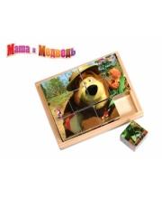Кубики Маша и Медведь 12 штук Маша и Медведь Затейники