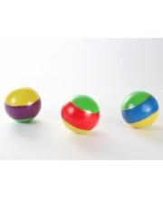 Мяч полосатый 100 мм S+S Toys