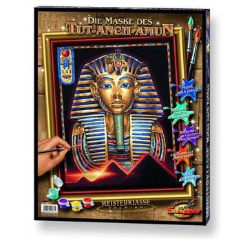 Творчество, Картина по номерам Маска Тутанхамона Schipper 632665, фото