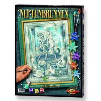 Картина по номерам Фонтан Нептуна