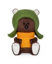 Мягкая игрушка Медведь Федот в шапочке и свитере BUDI BASA