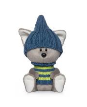 Мягкая игрушка Волчонок Вока в шапочке и свитере BUDI BASA