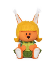 Мягкая игрушка Белка Бика в шапочке и платье BUDI BASA