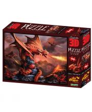 Стерео пазл Огненный дракон 500 деталей Prime 3D