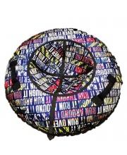 Санки надувные Тюбинг RT Надписи RUN  диаметр 105 см RT