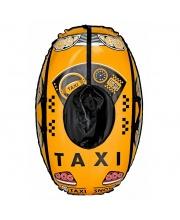 Санки надувные овальные Тюбинг Машинка Taxi Snow Тяни-Толкай