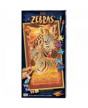 Картина по номерам Зебры