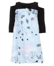 Платье коктейльное с вышивкой Choupette