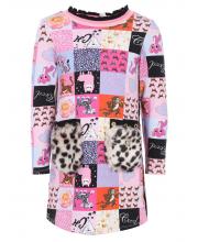 Платье с меховыми карманами Choupette