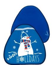 Сани-ледянка треугольная Снеговик 52*54см RT