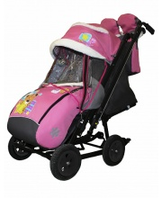 Санки-коляска Snow Galaxy City-2-1 Мишка+сумка+вар