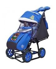 Санки-коляска Snow Galaxy City-2 Зелёный Мишка+сумка+варежки