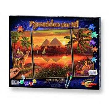 Картина по номерам Триптих Пирамиды