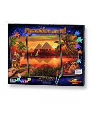 Картина по номерам Триптих Пирамиды Schipper