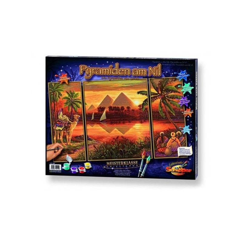 Schipper Картина по номерам Триптих Пирамиды schipper триптих африканские слоны
