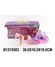 Карета для куклы лошадка в комплекте