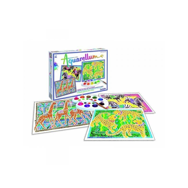 SentoSphere Раскраска Зебры, жирафы, пантеры акварельная раскраска лошади sentosphere