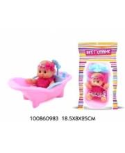Пупс в ванной в ассортименте S+S Toys