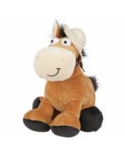 Лошадка в шляпке 20 см со звуком PLUSH APPLE
