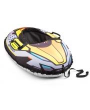 Надувные санки-тюбинг с сиденьем и ремнями Asteroid Sport 106х86 см Small Rider