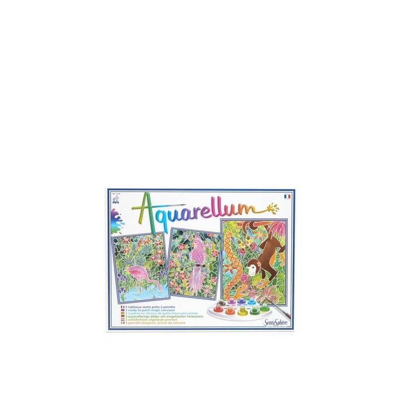 Раскраска АмазонкаРаскраска Амазонка маркиSentoSphere.<br>С раскраской Амазонка ваш ребенок изучит новую технику рисования. Особенность данной раскраски заключается том, что в оправу картинки вставлен тонкий пергамент, и когда на лист наносятся всего несколько мазков акварели, рисунок проступает на листе. Такой рисунок можно перерисовывать несколько раз, пока не получится желаемый результат. Таким образом, красивый и яркий рисунок обязательно получится, даже если и не с первого раза.<br>Детей порадует такой набор и научит их правильно смешивать цвета для получения новых оттенков, разовьет чувство прекрасного и научит усидчивости и аккуратности.<br>В наборе: 3 картинки, кисть, палитра для смешивания красок, 9 флаконов не токсичных акварельных красок, пипетка для дозировки красок, инструкция.<br><br>Возраст от: 8 лет<br>Пол: Не указан<br>Артикул: 634888<br>Бренд: Франция<br>Размер: от 8 лет