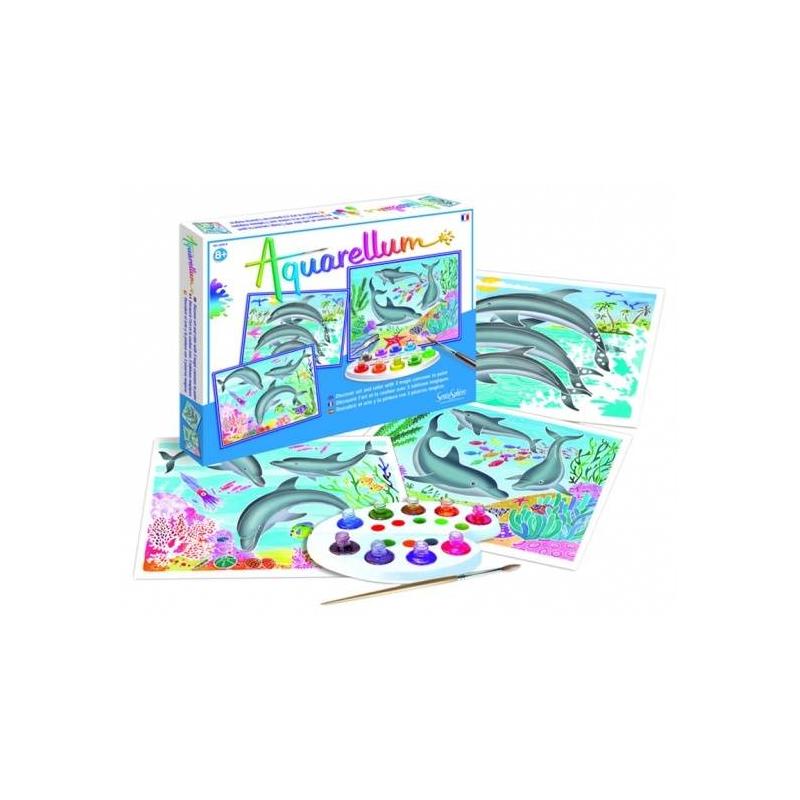 SentoSphere Раскраска Дельфины акварельная раскраска лошади sentosphere