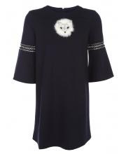 Платье трикотажное со стразами Choupette