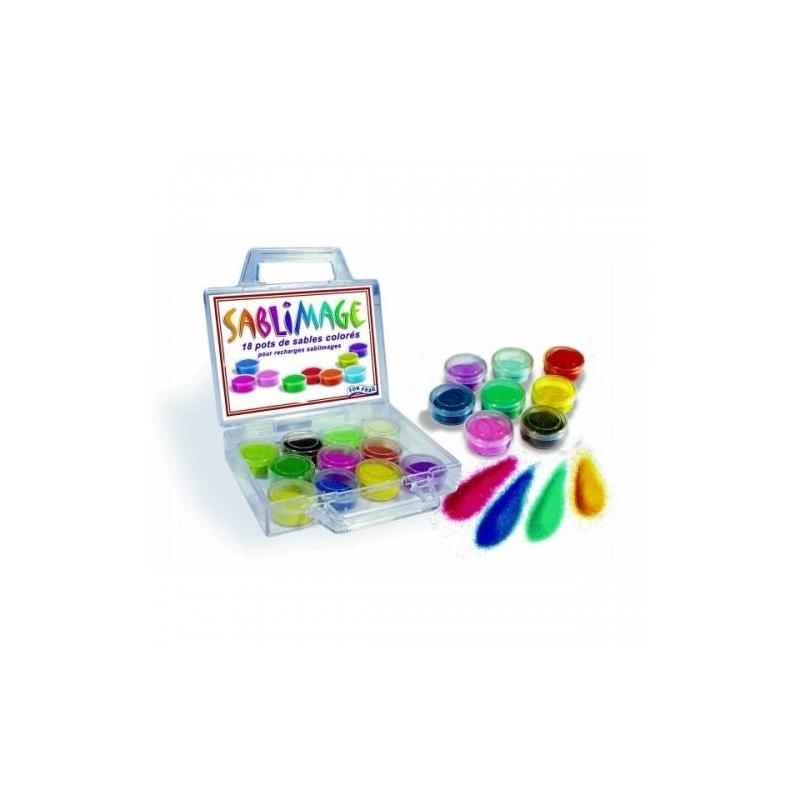 SentoSphere Набор цветного песка 18 шт sentosphere набор для детского творчества фигурки из бумаги