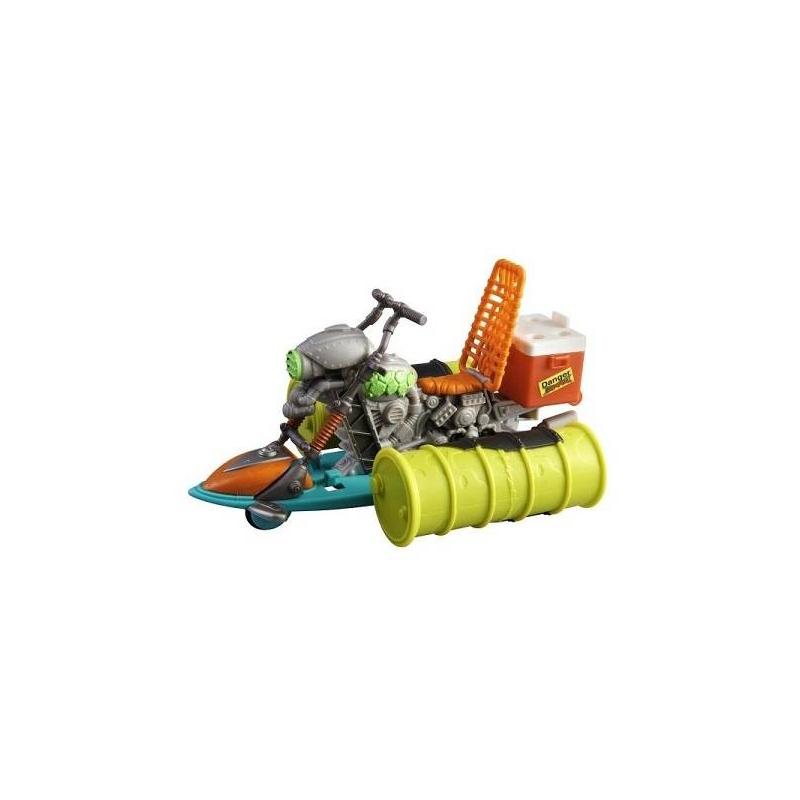 Гидроцикл Черепашки НиндзяГидроцикл Черепашки НиндзямаркиPlaymates Toys.<br>Эта игрушкадает возможность Вашему ребенку попробовать свои силы в борьбе за добро не только на суше, но и настичь неприятеля в воде. Любому супергерою непременно нужен транспорт в погоне за неприятелем. Гидроцикл Черепашки Нинздя - неотъемлемая часть любой погони на море. Малыш может посадить на гидроцикл не только любимого героя из «Черепашек», но и героя любого другого мультика или сказки.<br>Играя гидроциклом Черепашек, ребенок учится фантазировать, развивает воображение, строит свой собственный мир на основе различных сказочных сюжетов.<br>Гидроцикл прекрасно держится на воде, что дает возможность Вашему ребенку чувствовать себя Ниндзя даже во время купания.<br>Сзади сиденья на гидроцикле находится ящик со специальным боевым раствором, при помощи которого можно поразить неприятеля (раствор приобретается отдельно).<br>Размер упаковки: 25 х 7 х 19 см.<br><br>Возраст от: 4 года<br>Пол: Для мальчика<br>Артикул: 630410<br>Бренд: Россия<br>Страна производитель: Китай<br>Лицензия: Черепашки Ниндзя<br>Размер: от 4 лет