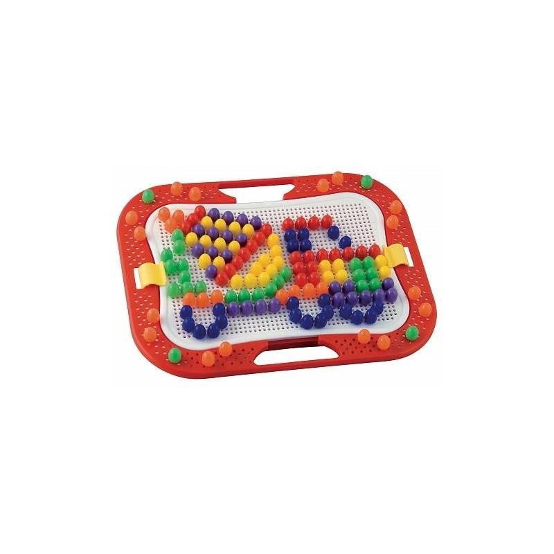 Мозаика Фантастические цветаМозаика Фантастические цветамаркиQuercetti.<br>В набор входят 160 разноцветных пластиковых гвоздиков, с помощью которых ребенок сможет создавать различные объемные цветные картинки. Для этого ему нужно лишь вставлять гвоздики в основу на примере приведенных в буклете изображений или так, как подскажет фантазия.Гвоздики представлены шести цветов: красного, зеленого, фиолетового, синего, оранжевого и желтого. Хранятся они в пластиковой коробочке, крышка которой является основой для мозаики. Основа легко снимается с коробочки и может использоваться отдельно. Также в комплект входит специальная ножка-подставка, при помощи которой коробочку можно зафиксировать в вертикальном положении.<br>Размер основы: 28 см x 20 см.<br>Диаметр шляпок гвоздиков: 1,5 см.<br>Размер упаковки: 36 см x 27,5 см x 5,5 см.<br><br>Возраст от: 4 года<br>Пол: Не указан<br>Артикул: 633944<br>Бренд: Италия<br>Размер: от 4 лет<br>Материал: Пластик