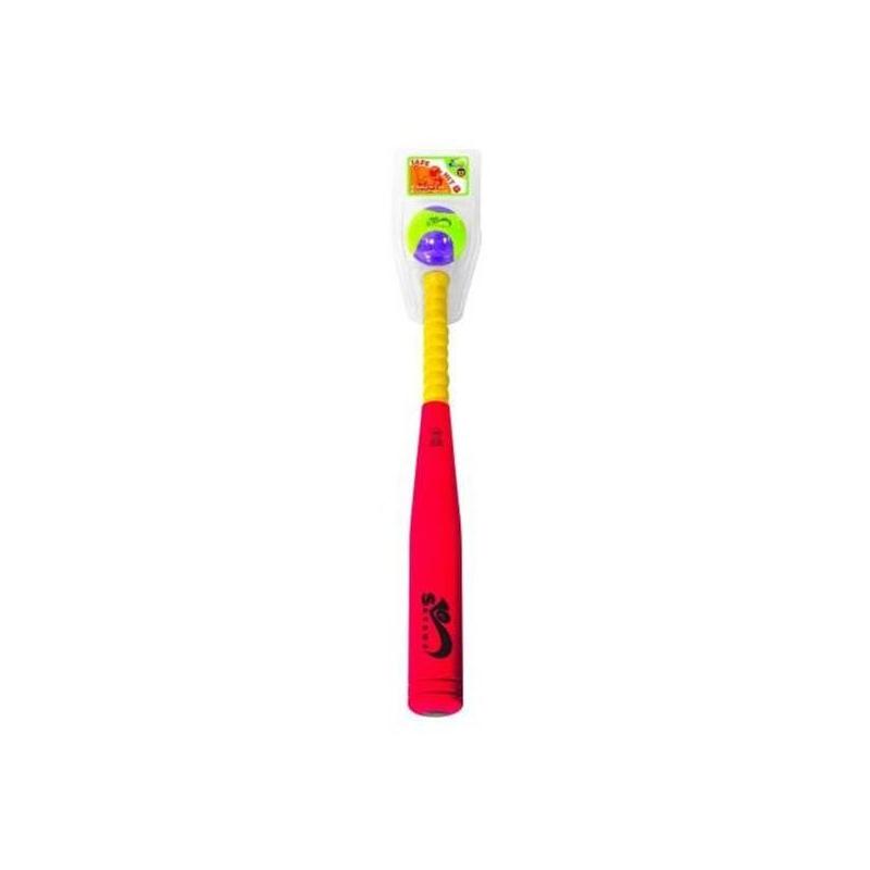 SafSof Бита бейсбольная игрушка для животных каскад мяч мина резиновый цвет красный 10 см