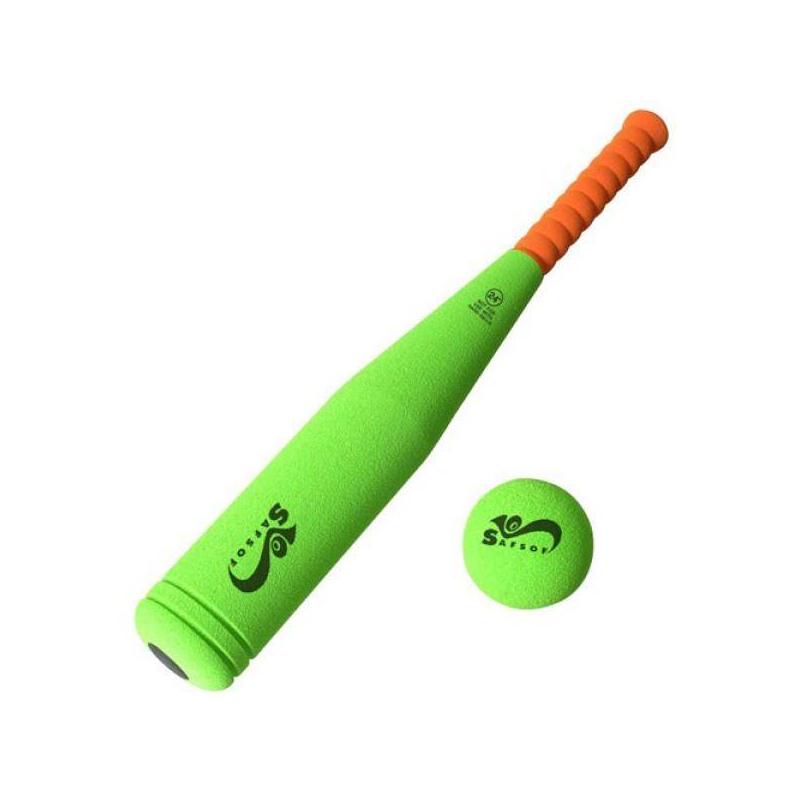 SafSof Бита бейсбольная safsof игровой набор бейсбольная бита и мяч цвет зеленый желтый