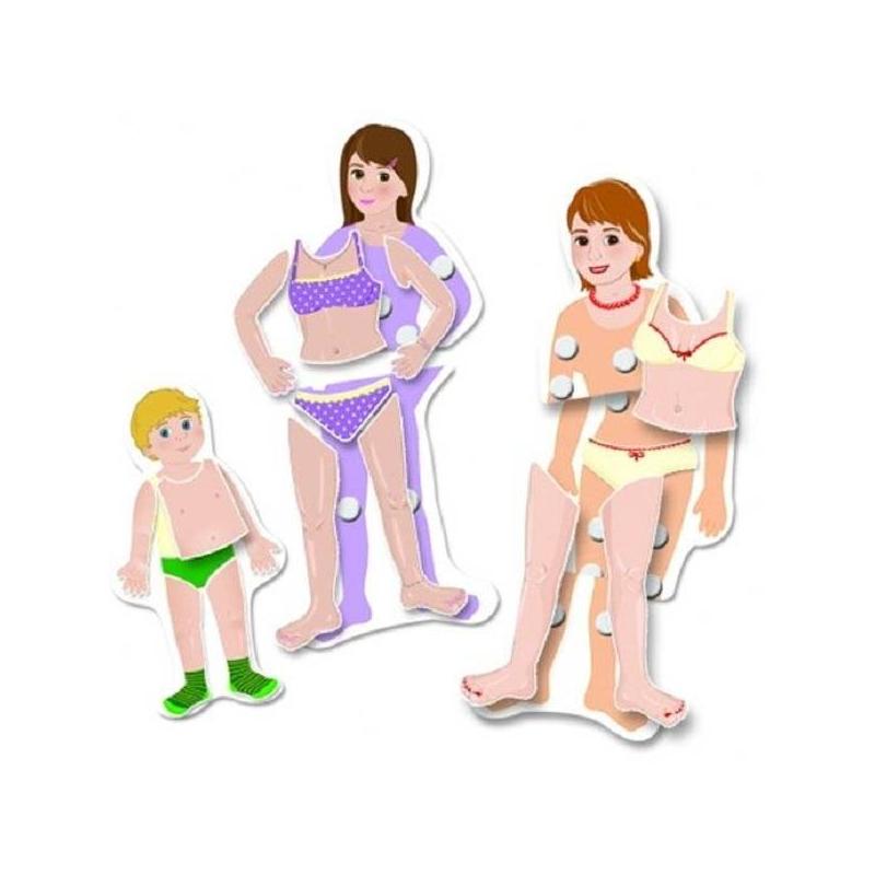 Настольная игра Растем вместеНастольная игра Растем вместе маркиScotchi.<br>Познавательная игра, разработанная специально для малышей.<br>С помощью данный игры ребенок наглядно увидит, как мальчик превращается в мужчину, а девочка в женщину, и познакомится с названием основных частей тела. В состав набора входит 3 двусторонние фигуры: девочка-мальчик, девушка-юноша, женщина-мужчина. А также отдельные части тела, которые ребенок должен правильно разместить на фигурах (руки, ноги, туловища). С помощью данного набора можно познакомить ребенка с названиями частей тела, повторить понятия больше-меньше, проговорить процесс взросления человека. Главная отличительная черта наборов Scotchi - это способ крепления деталей. Они скрепляются с помощью липучек. Для разъединения деталей требуются некоторые усилия, поэтому работа с ними полезна для детских пальчиков. Материал, из которого изготовлены детали, очень крепкий, не мнется не рвется, его можно мыть, поэтому игра прослужит долго.<br>Размер упаковки: 27 х 25x5 см.<br><br>Возраст от: 3 года<br>Пол: Не указан<br>Артикул: 630675<br>Страна производитель: Китай<br>Бренд: Израиль<br>Размер: от 3 лет