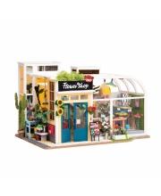 Румбокс Цветочный магазин Robotime