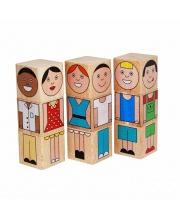 Кубики Смешные человечки Краснокамская игрушка