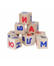 Кубики Алфавит со шрифтом Брайля Краснокамская игрушка