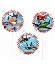 Трубочка Самолеты 24 см 6шт S+S Toys